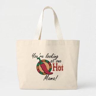 Una mamá caliente bolsa tela grande