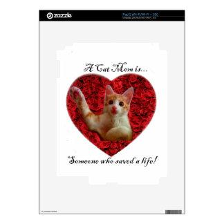 Una mamá del gato es alguien que ahorró una vida calcomanías para iPad 2