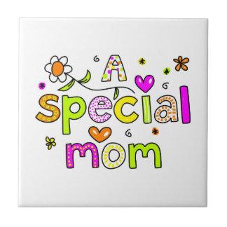 Una mamá especial azulejo cuadrado pequeño
