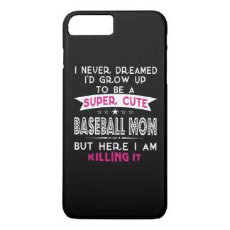 Una mamá linda estupenda del béisbol funda iPhone 7 plus
