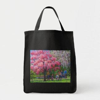 Una mañana de la primavera bolsa lienzo