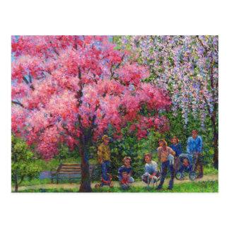 Una mañana de la primavera tarjeta postal