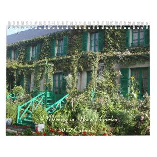 Una mañana en el jardín de Monet Calendario