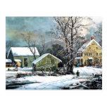 Una mañana fría - arte Poscard Postal