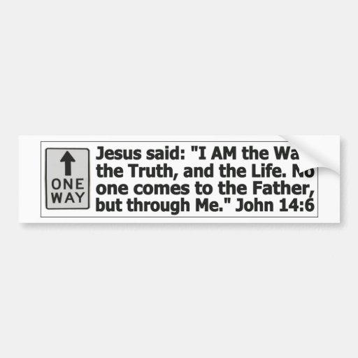 Una manera - a través de Cristo Pegatina De Parachoque