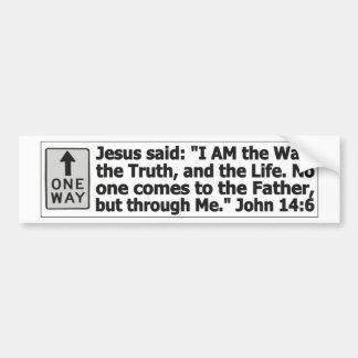Una manera - a través de Cristo Pegatina Para Auto