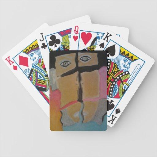 Una manera artsy de naipes baraja cartas de poker