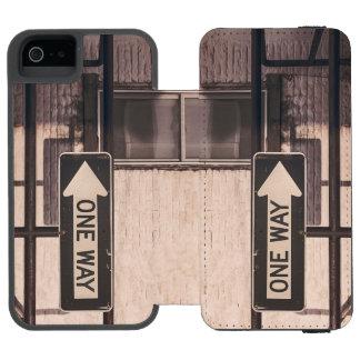 Una manera funda billetera para iPhone 5 watson