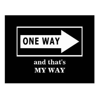 Una manera. Y ésa es MI MANERA Postal