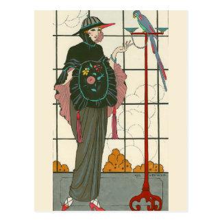 Una manga bordada de George Barbier Postal