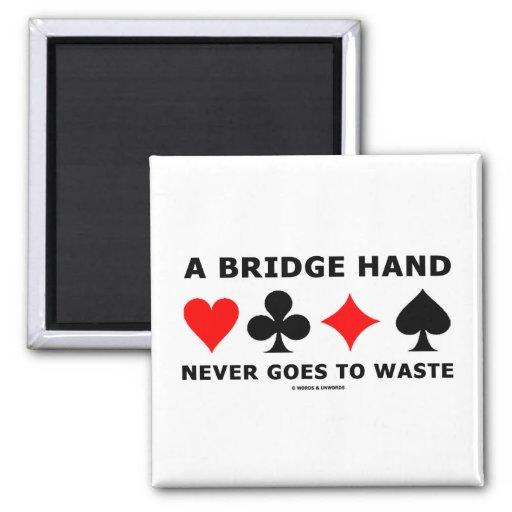 Una mano de puente nunca va a perder imán cuadrado