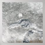 Una manta relativamente rara del hielo póster