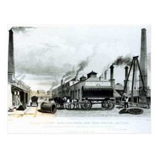 Una manufactura del Vapor-Motor y trabajos del Tarjetas Postales