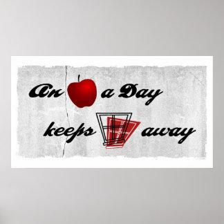 Una manzana al día mantiene ventanas ausentes posters