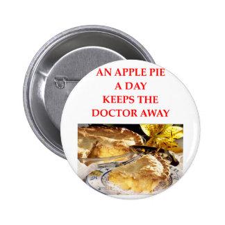 una manzana al día pin