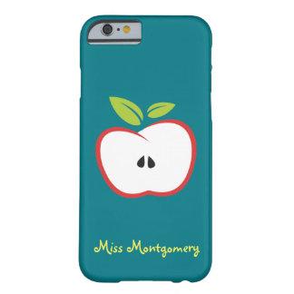 Una manzana con las hojas de un esquema rojo y del funda barely there iPhone 6