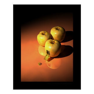 Una manzana del mecanismo - mécanique de oro póster