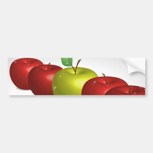 Una manzana para cada uno etiqueta de parachoque