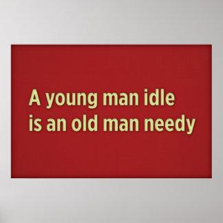 Una marcha lenta del hombre joven es un viejo homb poster