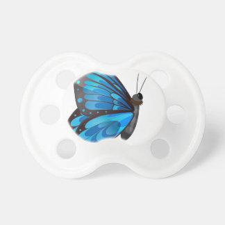 Una mariposa azul chupete