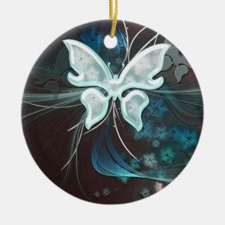 Una mariposa de la sombra adorno de navidad