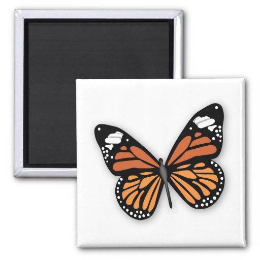 Una mariposa de monarca Jeweled Imán De Frigorífico