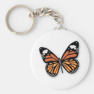 Una mariposa de monarca Jeweled Llaveros