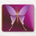 Una mariposa púrpura grande Mousepad Tapetes De Ratón