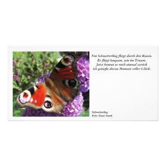 Una mariposa tarjeta fotográfica