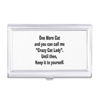 una más señora loca del gato del gato hasta cajas de tarjetas de presentación