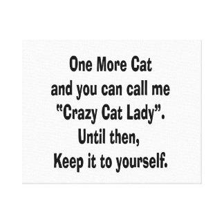 una más señora loca del gato del gato hasta entonc impresión en lienzo