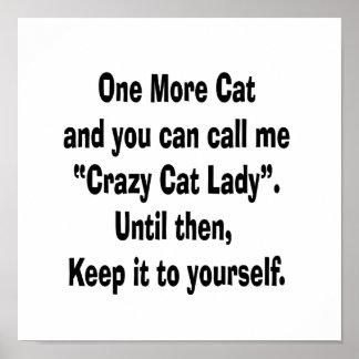 una más señora loca del gato del gato hasta entonc posters