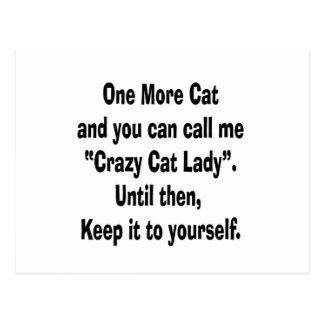 una más señora loca del gato del gato hasta entonc tarjetas postales