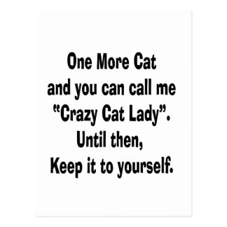 una más señora loca del gato del gato hasta entonc postal