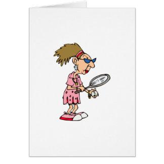 Una más vieja señora del tenis tarjeta