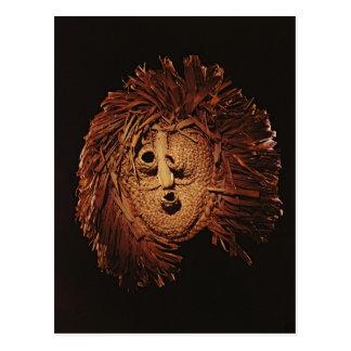 Una máscara del Seneca usada en ritos del invierno Postal