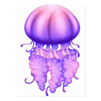 Una medusa de la lavanda postal