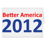 Una mejor América 2012 Felicitacion