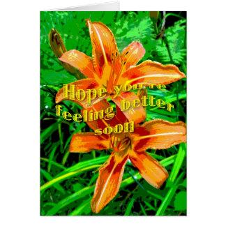 Una mejor pronto tarjeta de la sensación anaranjad