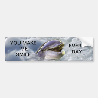 Una mejor sonrisa de los delfínes pegatina de parachoque