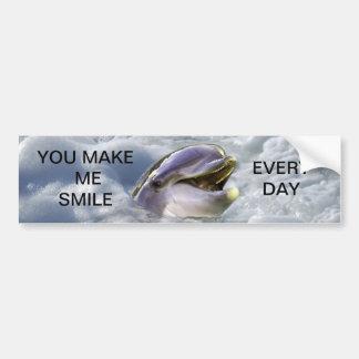 Una mejor sonrisa de los delfínes pegatina para auto