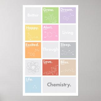 Una mejor vida a través del poster de la química