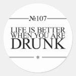 Una mejor vida bebida etiqueta