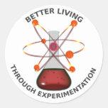 Una mejor vida con la experimentación pegatina redonda