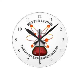 Una mejor vida con la experimentación relojes de pared