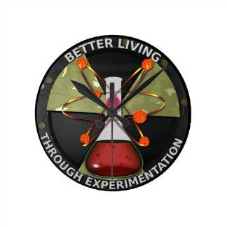 Una mejor vida con la experimentación reloj redondo mediano