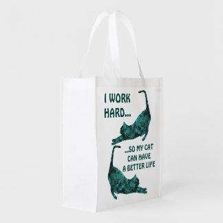Una mejor vida para mis totes reutilizables del bolsas para la compra