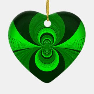 Una mejor visión nocturna adorno navideño de cerámica en forma de corazón