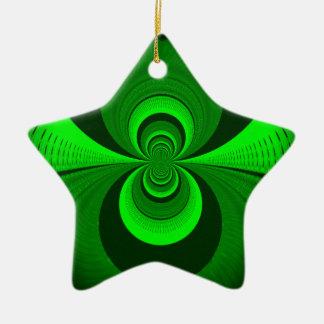 Una mejor visión nocturna adorno navideño de cerámica en forma de estrella