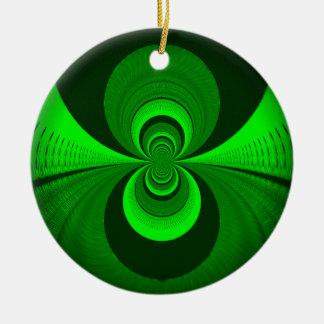 Una mejor visión nocturna adorno navideño redondo de cerámica